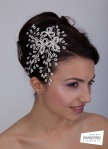 Diadema mireasa latral din perle si cu Swarovski Crystallized Elements
